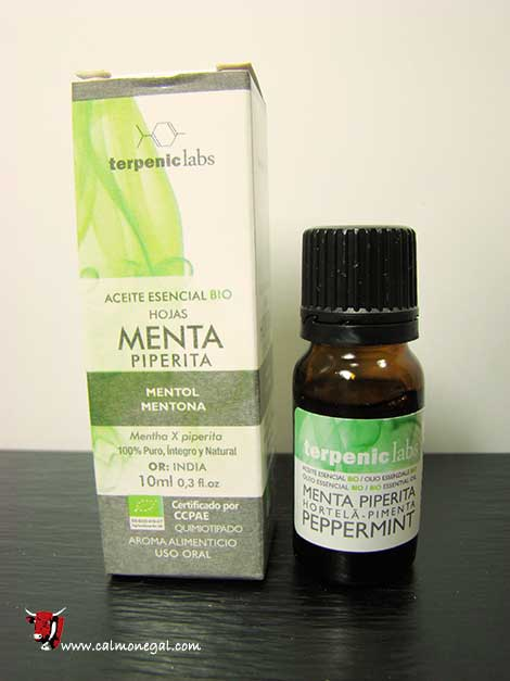 Oli essencial fulles de menta piperita 10ml TERPENIC LABS