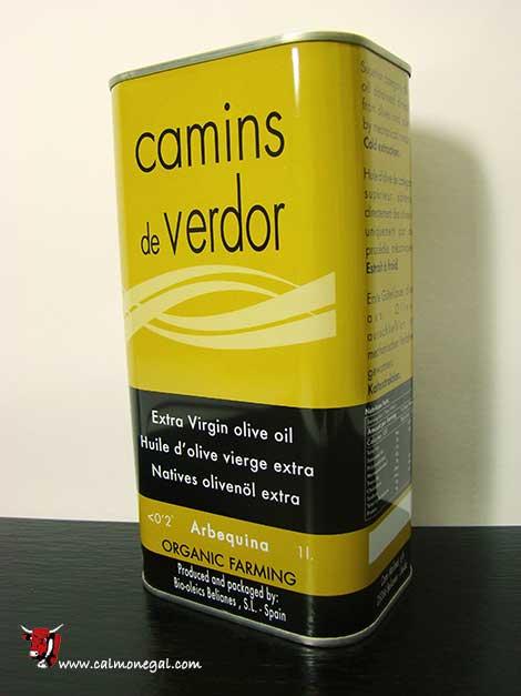 Oli d'oliva arbequina verge extra 1L CAMINS DE VERDOR