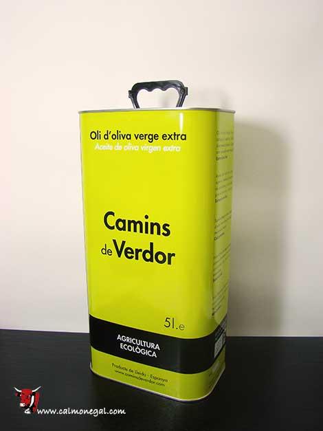 Oli d'oliva arbequina verge extra 5L CAMINS DE VERDOR