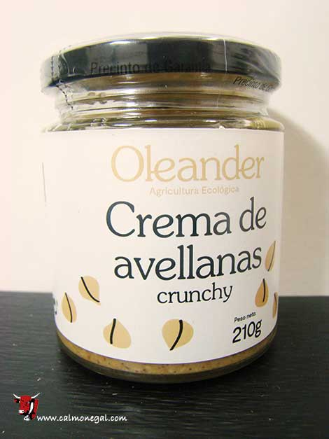 "Crema d'avellana torrada ""crunchy"" 210gr OLEANDER"