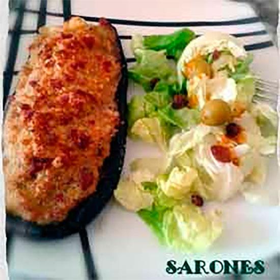 recepta sarones alberginia farcida carn