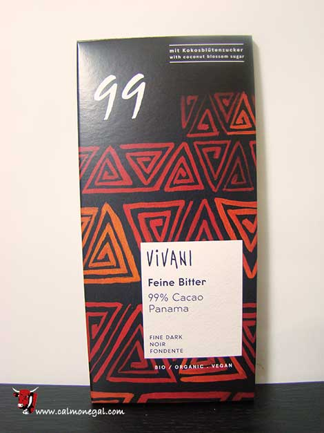 "Xocolata negra 99% cacau ""FEINE BITTER"" 100gr VIVANI"