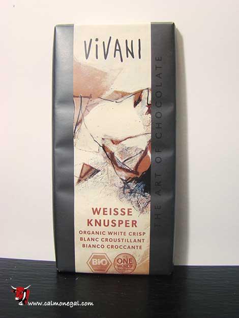 "Xocolata blanca amb arròs inflat ""WEISSE KNUSPER"" 100gr VIVANI"
