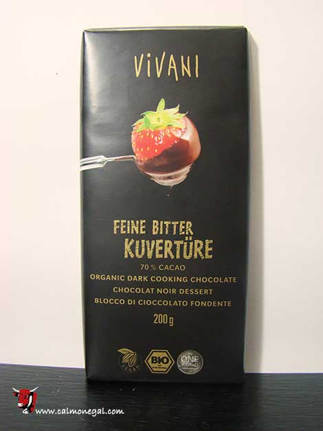 Xocolata negra de cobertura 200gr VIVANI1