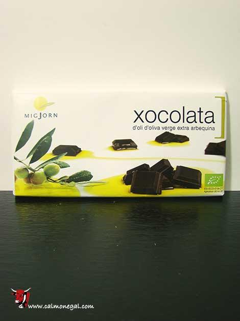 Xocolata amb oli d'oliva extra arbequina 100gr MigJorn