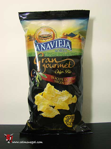 Patates xips gran gourmet 125gr AÑAVIEJA
