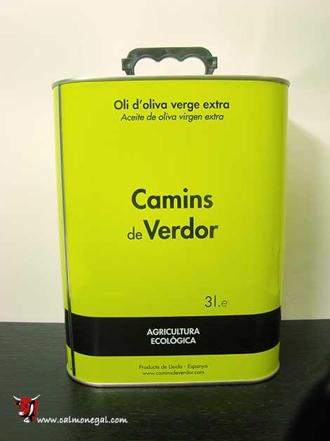 Oli d'oliva arbequina verge extra 3L CAMINS DE VERDOR