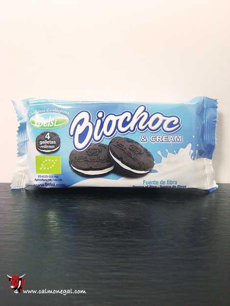 Galetes de cacau farcides de crema blanca Biochoc & Cream 70gr BELSI