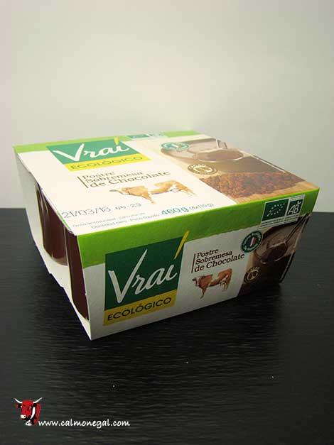 Postre de xocolata amb llet sencera 4x115gr VRAI