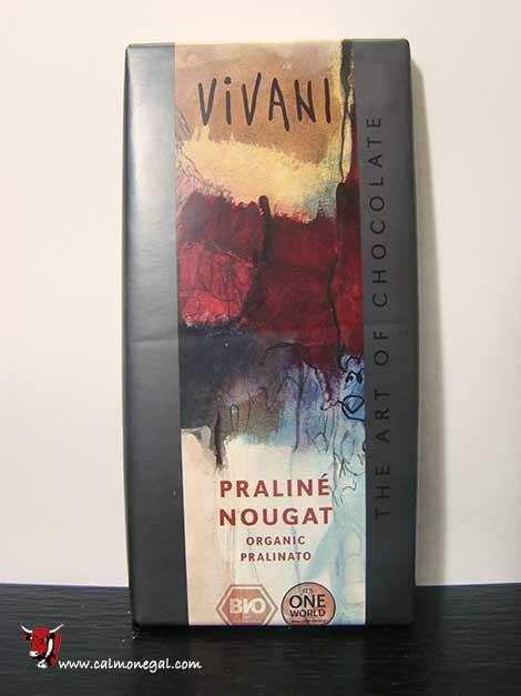 """Xocolata amb llet i crema d'avellanes """"PRALINÉ"""" 100gr VIVANI"""