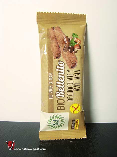 Snack d'arròs farcit de xocolata i avellana 25gr SOL NATURAL