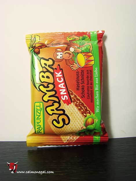 Galeta snack xocolata amb avellanes samba 25gr RAPUNZEL